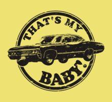 That's My Baby - Black Kids Tee