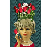 ¸¸.♥➷♥•*¨MY HEART IS FEELING LUV BUT MY HEAD IS SAYING ROSES ¸¸.♥➷♥•*¨ Photographic Print