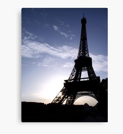 Eiffel Tower at Sunset  Canvas Print