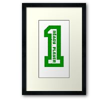 Ready Player One Number Green Framed Print