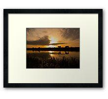Idle Sunrise Framed Print