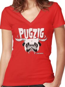pugzig Women's Fitted V-Neck T-Shirt