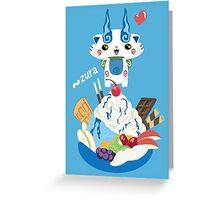Ice Cream Komasan Greeting Card