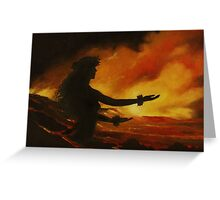 Pele Rejoicing Greeting Card