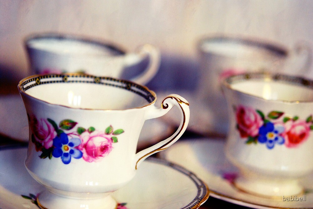 Teacups by Claire Dimond