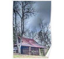 HDR - Barn and Trees Poster
