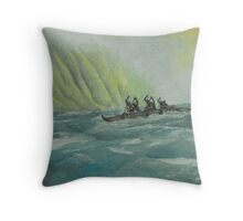 Na Koa Wa'a Throw Pillow