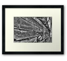 HDR - BW - Old Barn Wood Framed Print