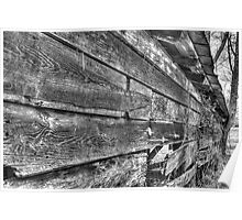 HDR - BW - Old Barn Wood Poster