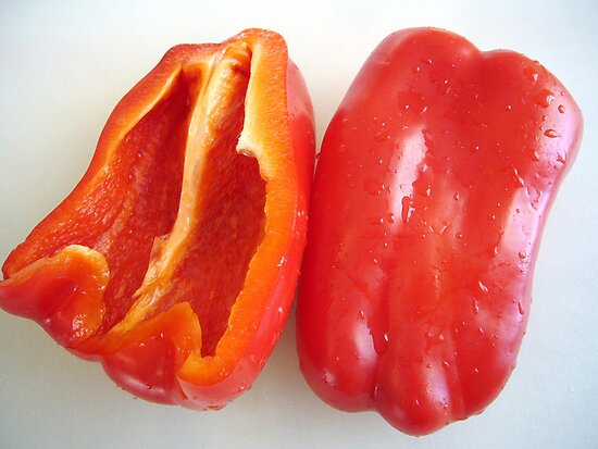 Red Bell Pepper by Susan S. Kline