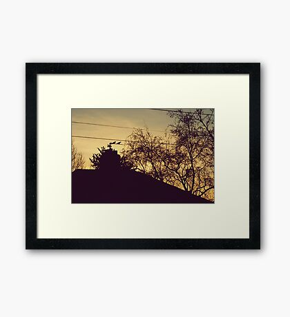Morning, sweetie. Framed Print