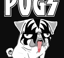 kiss pug by darklordpug