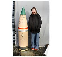 "15"" Naval shell  Poster"