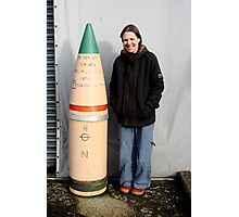 "15"" Naval shell  Photographic Print"