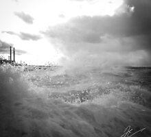 Roaring winds, breaking waves by Jonathan Evans