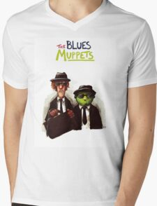 The Blues Muppets Mens V-Neck T-Shirt