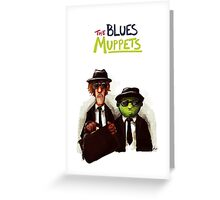 The Blues Muppets Greeting Card
