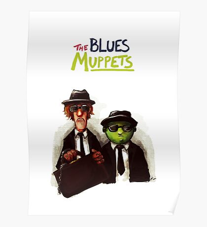 The Blues Muppets Poster