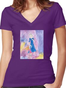 Child of the TARDIS-Womens Women's Fitted V-Neck T-Shirt