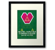 Take me with you! Framed Print