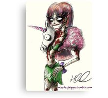 Zombie Jade Jolie  Canvas Print