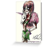 Zombie Jade Jolie  Greeting Card