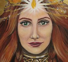 Brigid (detail) by margotmythmaker