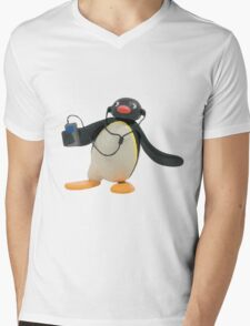 Pingu Mens V-Neck T-Shirt