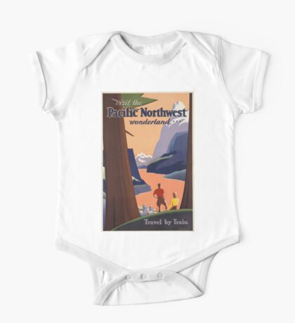 Vintage poster - Pacific Northwest One Piece - Short Sleeve