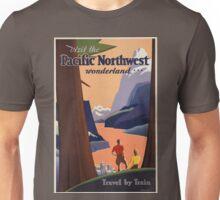 Vintage poster - Pacific Northwest Unisex T-Shirt