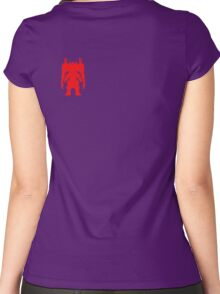 HEAVY DRILLER > RED SILOUHETTE Women's Fitted Scoop T-Shirt