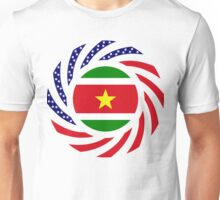 Surinamese American Multinational Patriot Flag Series Unisex T-Shirt
