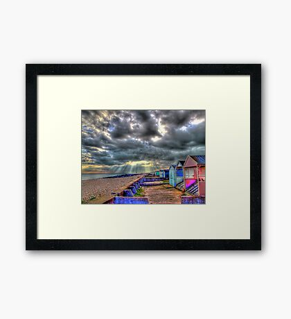 Storm Clouds - Worthing - HDR Framed Print
