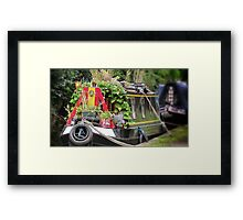 Colourful Narrowboat Framed Print