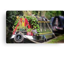 Colourful Narrowboat Canvas Print
