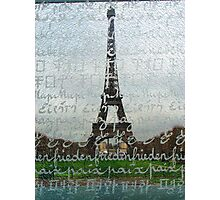 Eiffel behind the screen Photographic Print