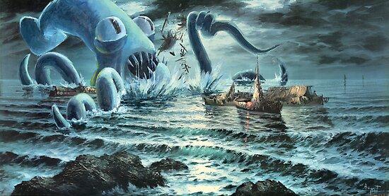 Kraken Attack! by OrigSteve