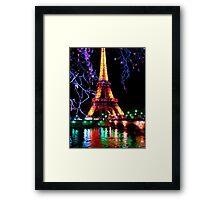 Eiffel in the lights Framed Print