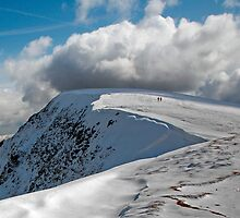 Almost there on the footpath to Helvellyn Lake District by Martin Lawrence