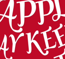 red apple with word art Sticker