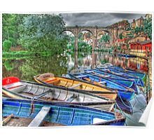 Knaresborough Rowing Boats - HDR Poster