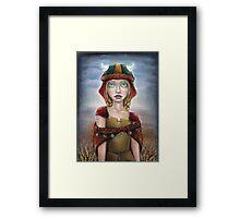 Viking Girl Framed Print