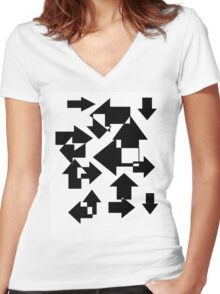 Lost In All Directions Women's Fitted V-Neck T-Shirt