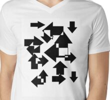 Lost In All Directions Mens V-Neck T-Shirt