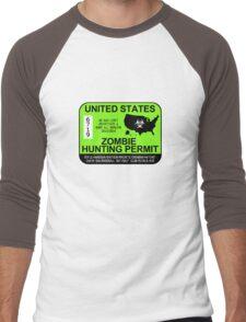 Zombie Hunting Permit 2013/2014 Men's Baseball ¾ T-Shirt