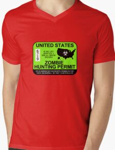 Zombie Hunting Permit 2013/2014 Mens V-Neck T-Shirt