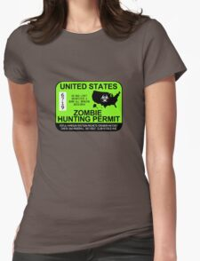 Zombie Hunting Permit 2013/2014 Womens Fitted T-Shirt
