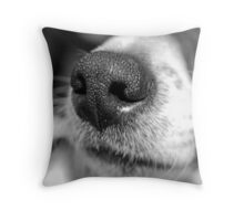 Cold Wet Nose Throw Pillow