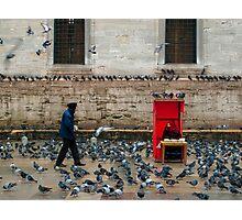 Outside the Yeni Camii - Istanbul Photographic Print