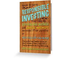 Responsible Investing: Green Your Portfolio Greeting Card